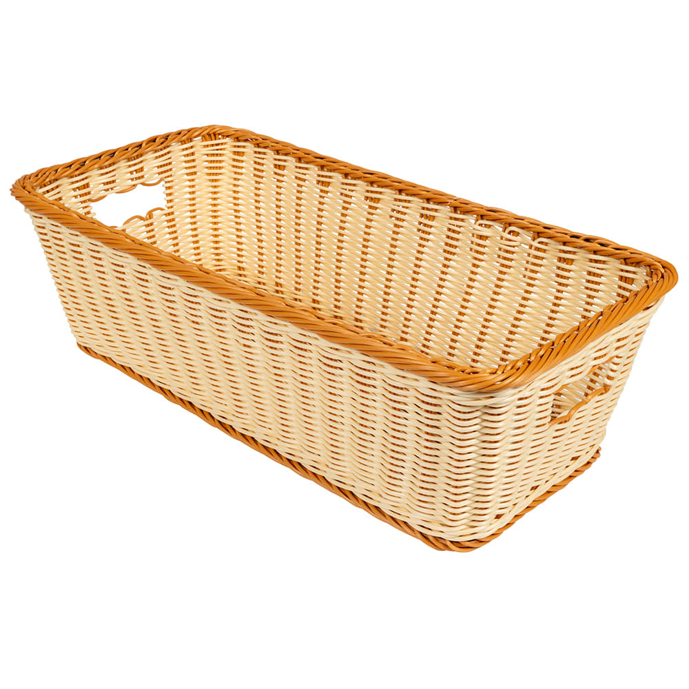 "GET WB-1519-TT Rectangular Bread & Bun Basket, 23"" x 11"", Polypropylene, Two-Tone"