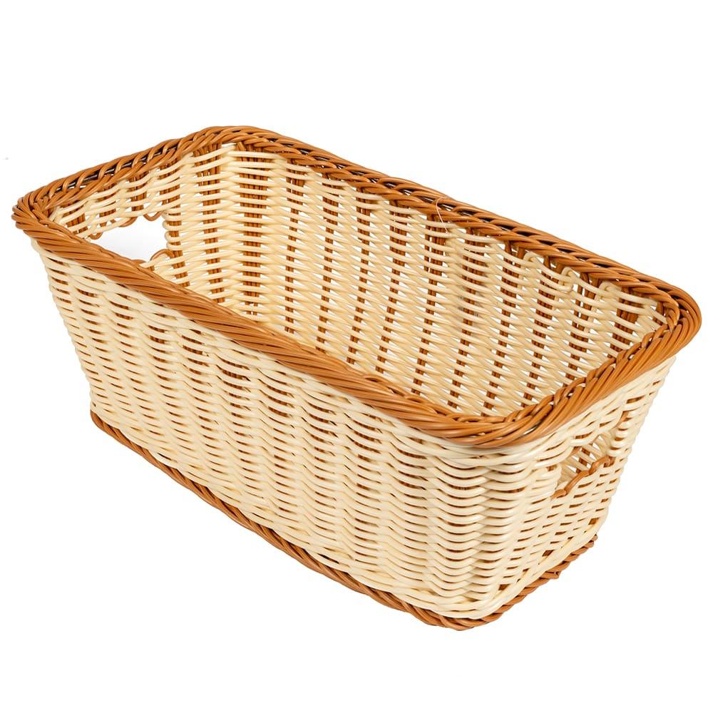 "GET WB-1520-TT Rectangular Bread & Bun Basket, 16"" x 9"", Polypropylene, Two-Tone"