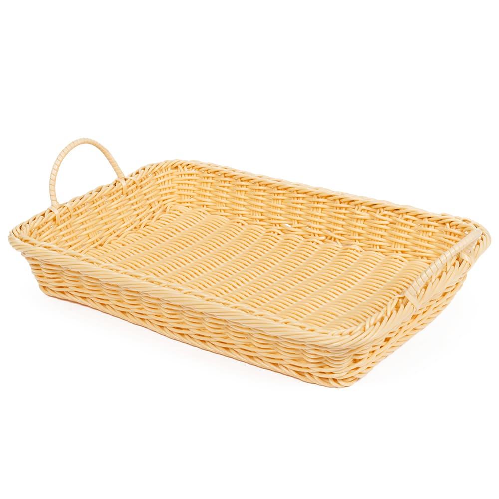 "GET WB-1524-N Rectangular Bread & Bun Basket, 18"" x 12.25"", Polypropylene, Natural"