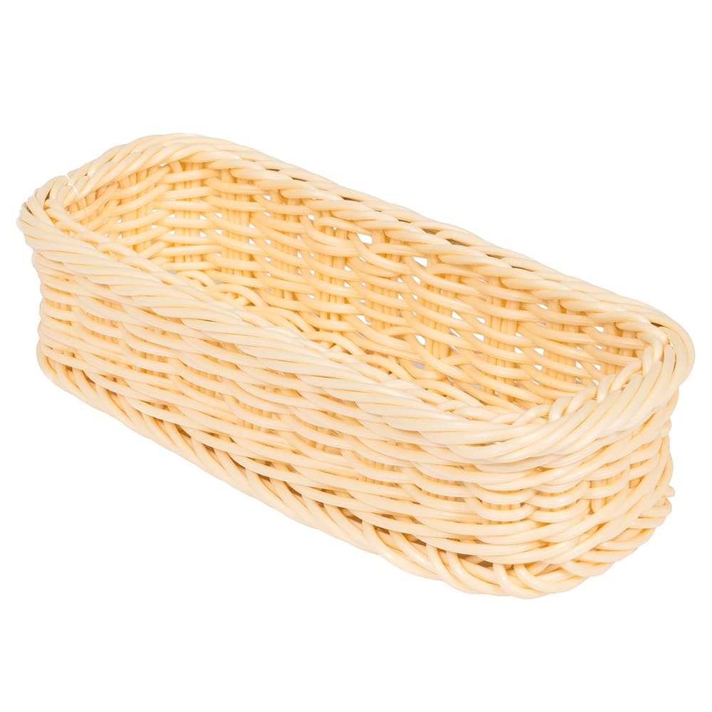 "GET WB-1528-N Rectangular Bread & Bun Basket, 9"" x 3.75"", Polypropylene, Natural"