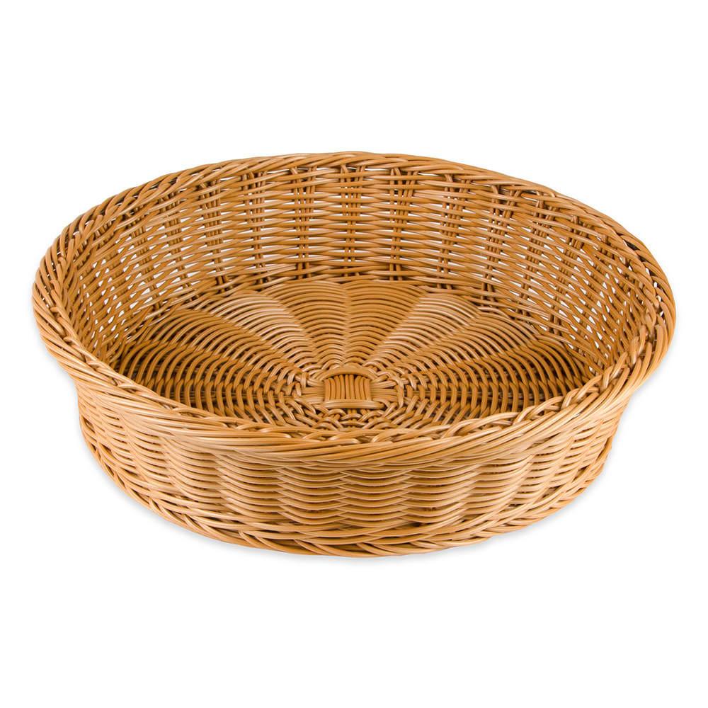 "GET WB-1551-HY 15.5"" Round Bread Basket, Polypropylene, Honey"