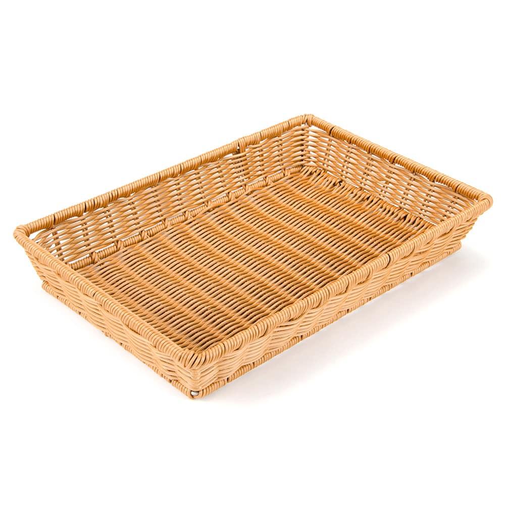 "GET WB-1553-HY Rectangular Bread Basket, 16.25"" x 11"", Polypropylene, Honey"