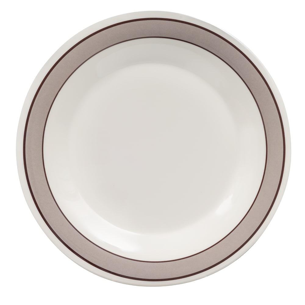 "GET WP-10-CA 10.5"" Round Dinner Plate, Melamine, White"