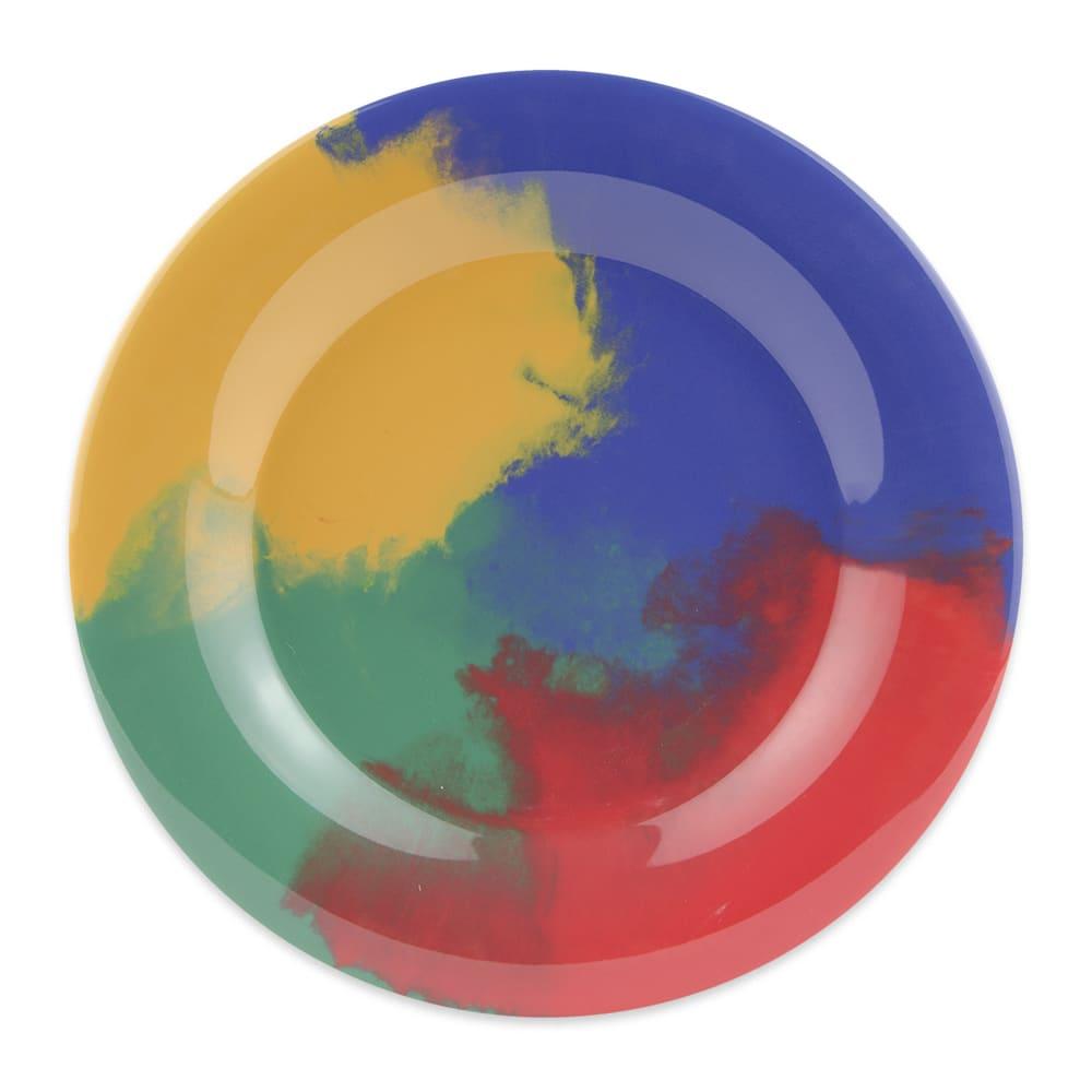 "GET WP-10-CE 10.5"" Round Dinner Plate, Melamine, Multi-Colored"