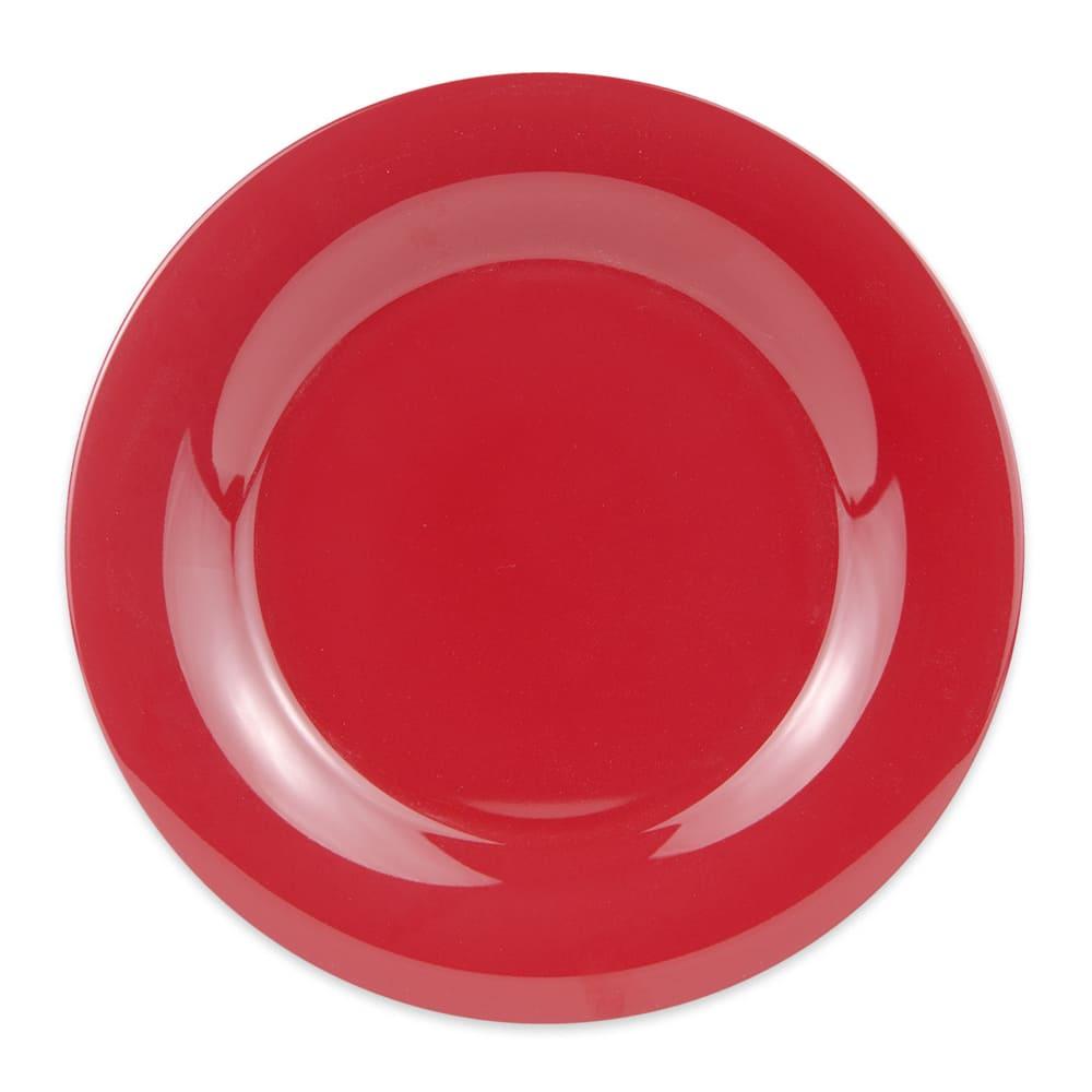 "GET WP-10-CR 10.5"" Round Dinner Plate, Melamine, Red"
