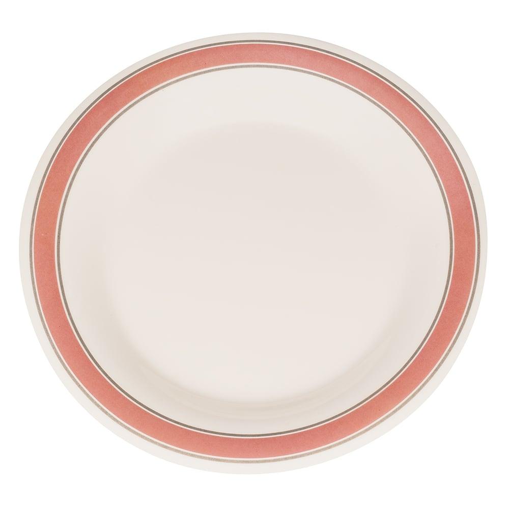 "GET WP-10-OX 10.5"" Round Dinner Plate, Melamine, White"