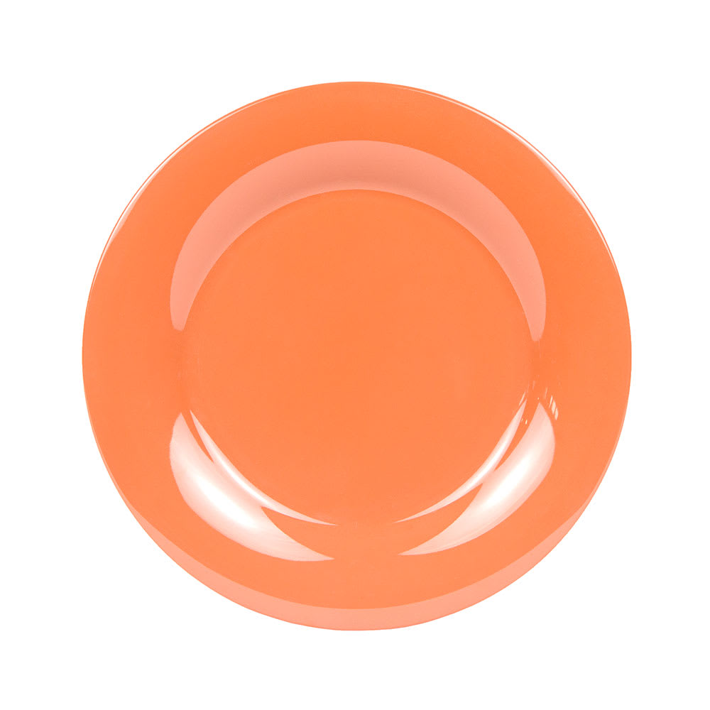 "GET WP-10-RO 10.5"" Round Dinner Plate, Melamine, Orange"