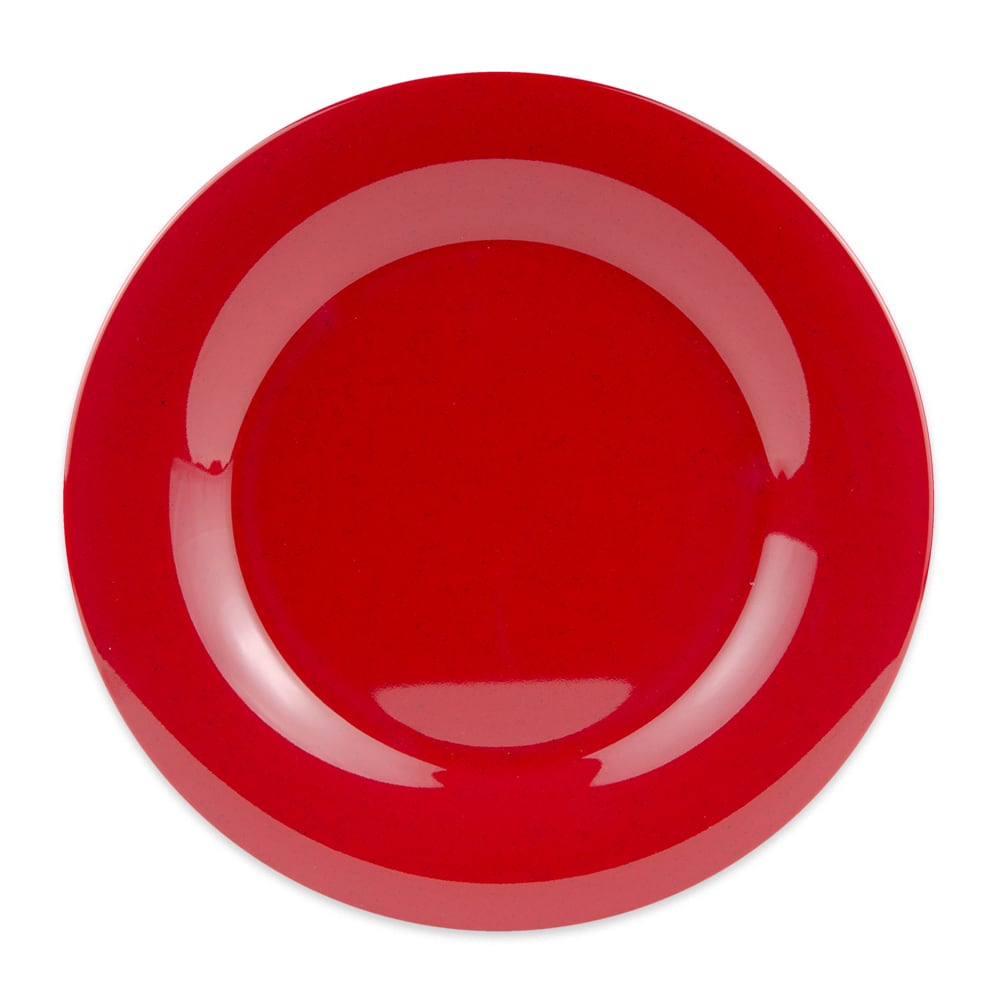 "GET WP-10-RSP 10.5"" Round Dinner Plate, Melamine, Red"