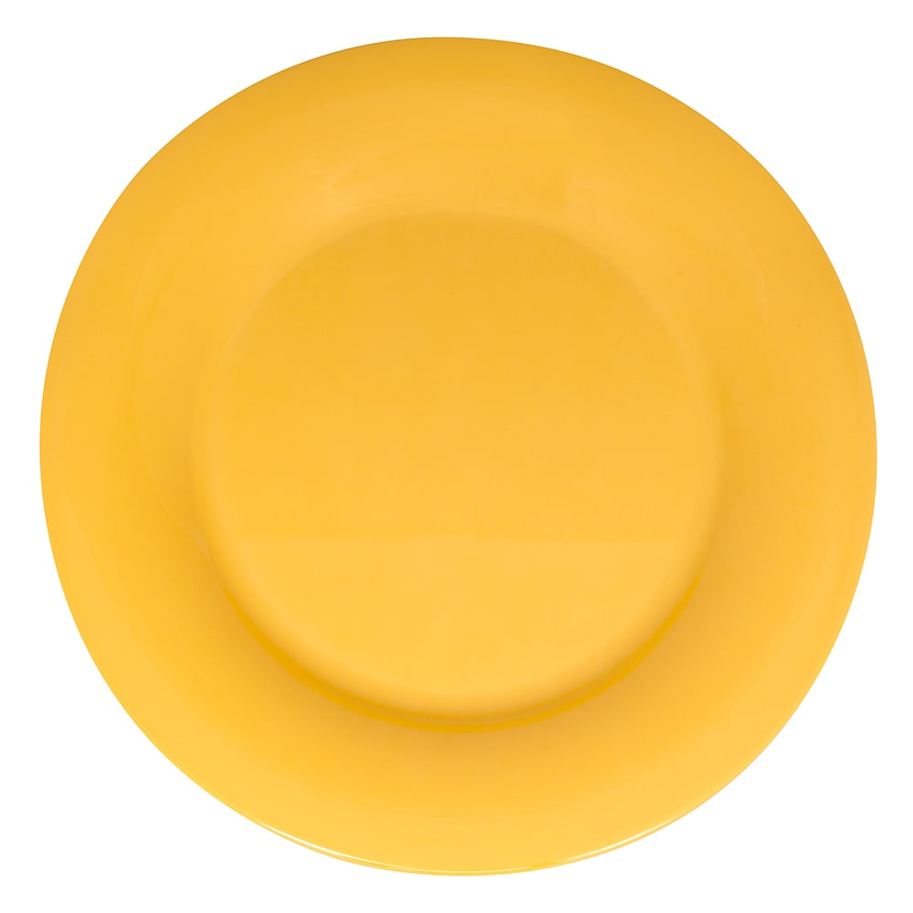 "GET WP-10-TY 10.5"" Round Dinner Plate, Melamine, Yellow"