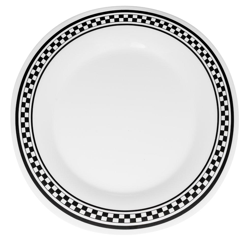 "GET WP-10-X 10.5"" Round Dinner Plate, Melamine, White"