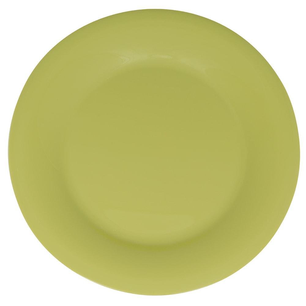 """GET WP-12-AV 12"""" Round Dinner Plate, Melamine, Avocado"""
