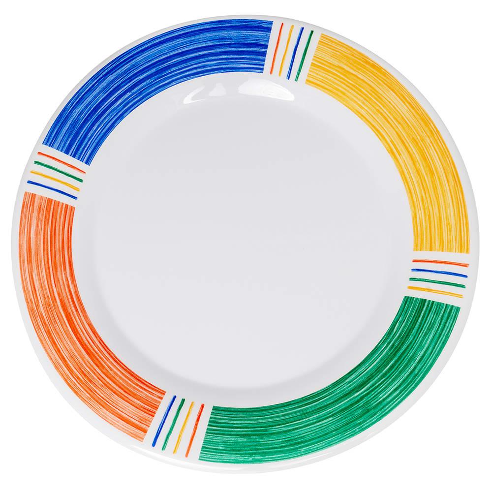 """GET WP-12-BA 12"""" Round Dinner Plate, Melamine, White"""