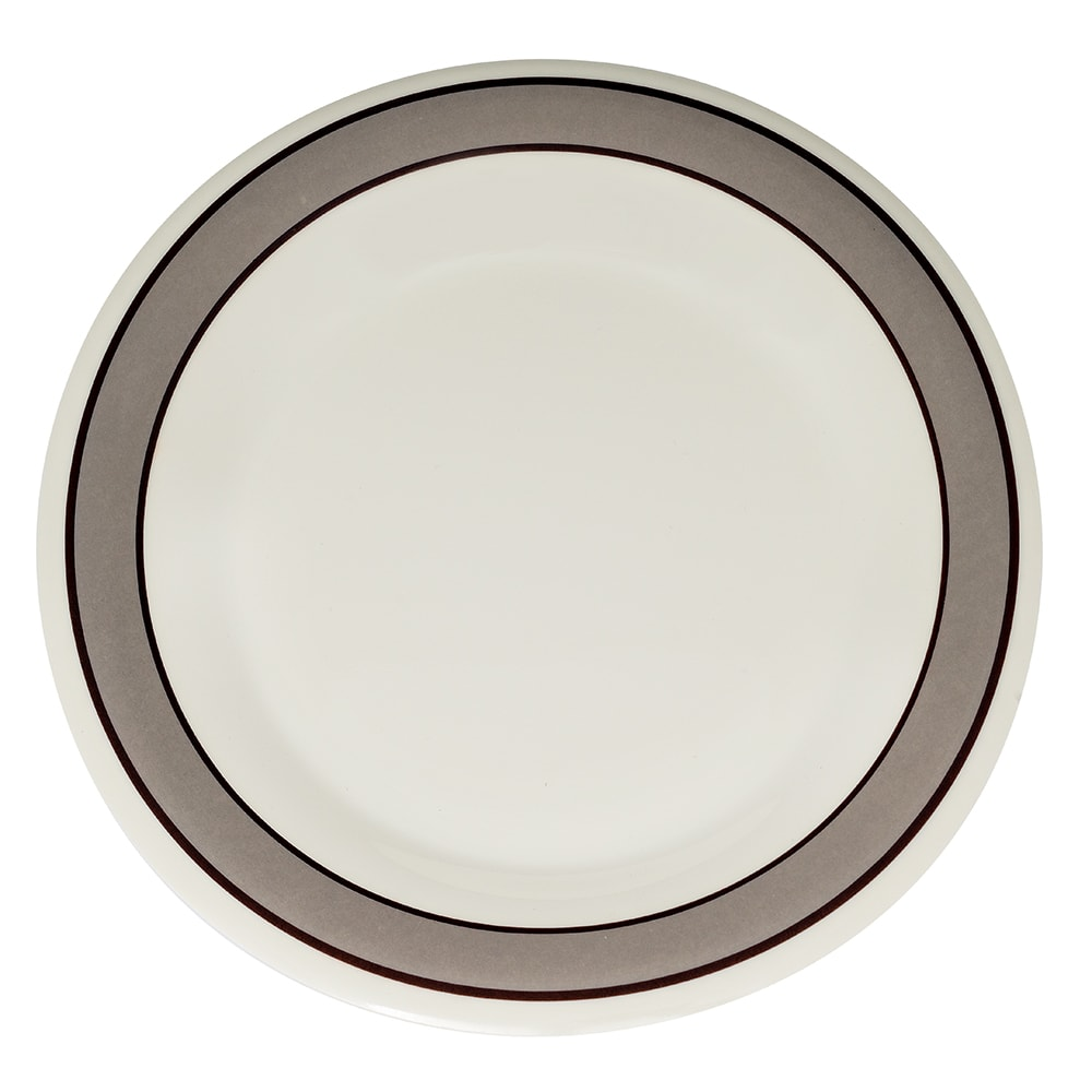 "GET WP-12-CA 12"" Round Dinner Plate, Melamine, White"