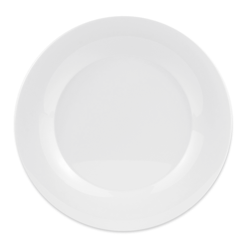 "GET WP-12-DW 12"" Round Dinner Plate, Melamine, White"