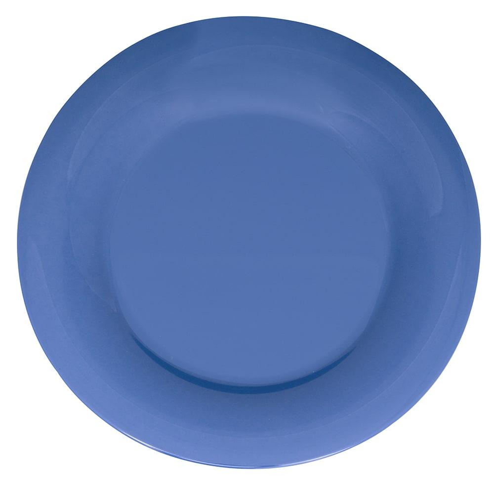 "GET WP-12-PB 12"" Round Dinner Plate, Melamine, Blue"