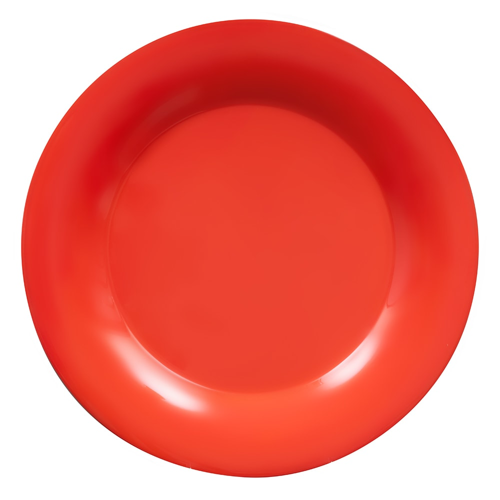 "GET WP-12-RO 12"" Round Dinner Plate, Melamine, Orange"