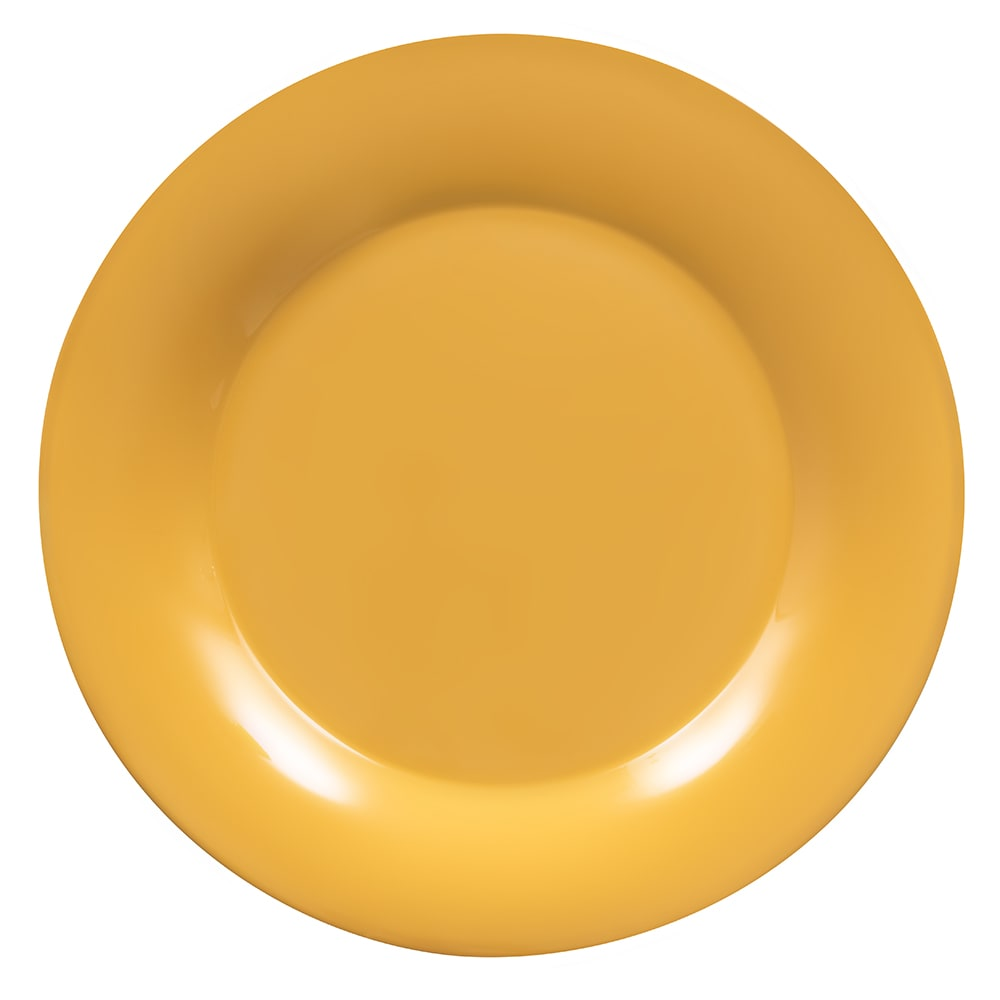 "GET WP-12-TY 12"" Round Dinner Plate, Melamine, Yellow"