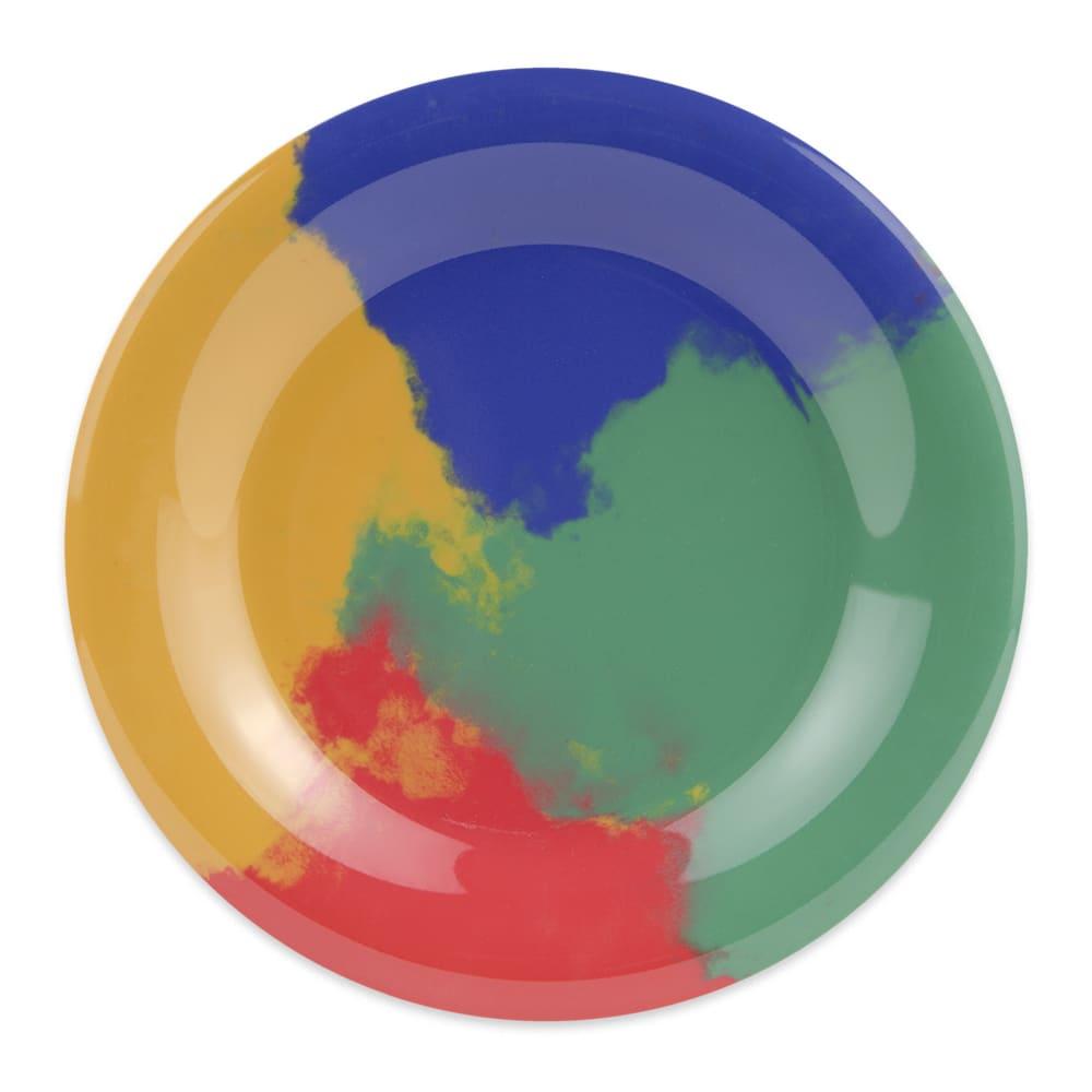 "GET WP-6-CE 6.5"" Round Dessert Plate, Melamine, Multi-Colored"