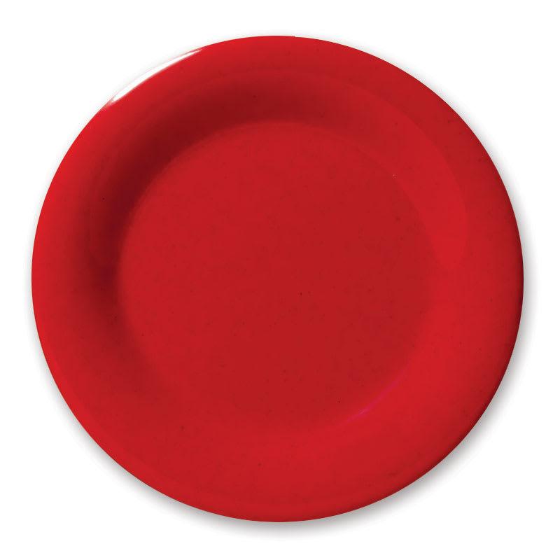 """GET WP-6-RSP 6.5"""" Round Dessert Plate, Melamine, Red"""