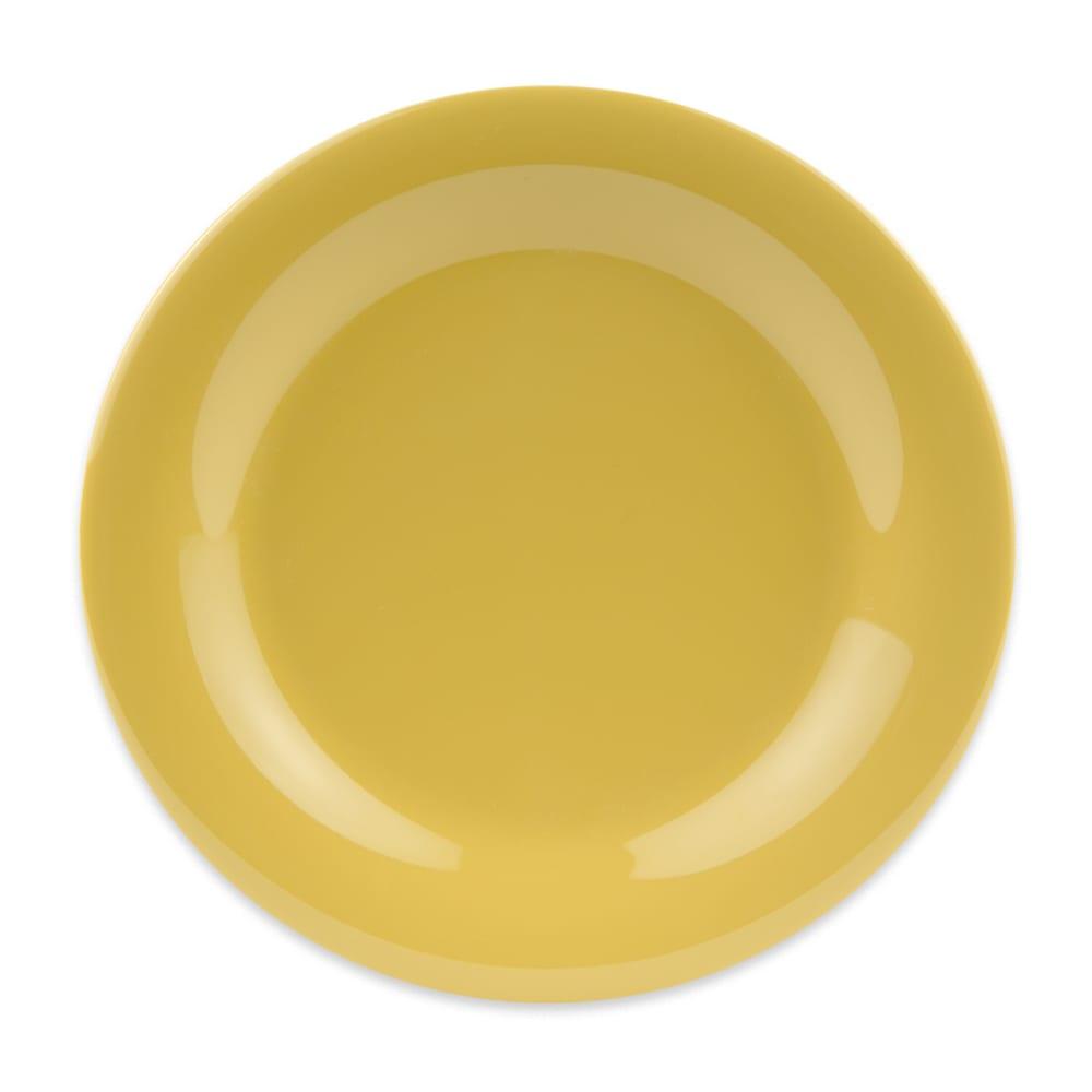 "GET WP-6-TY 6.5"" Round Dessert Plate, Melamine, Yellow"