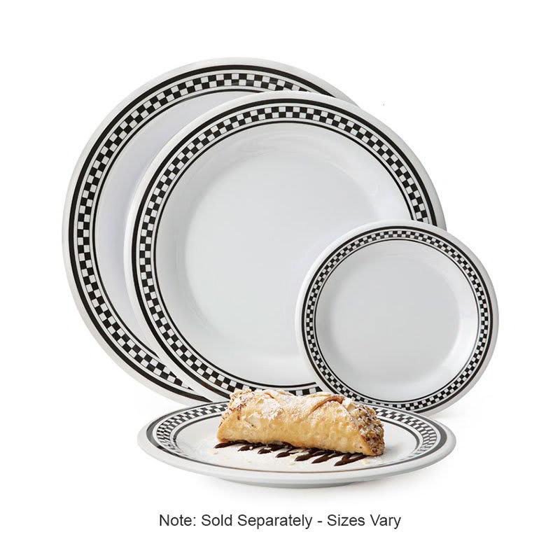 """GET WP-6-X 6.5"""" Round Dessert Plate, Melamine, Black"""