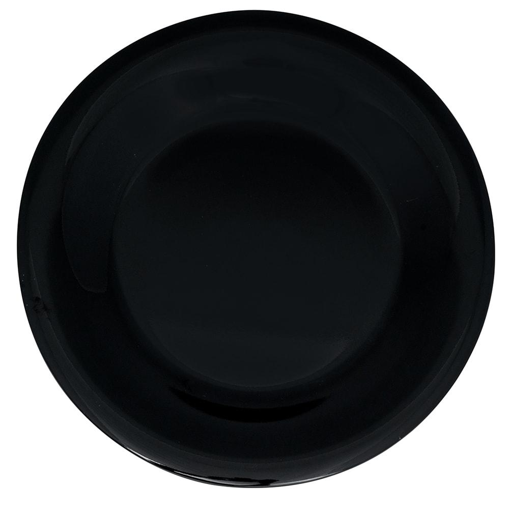 "GET WP-7-BK 7.5"" Round Salad Plate, Melamine, Black"