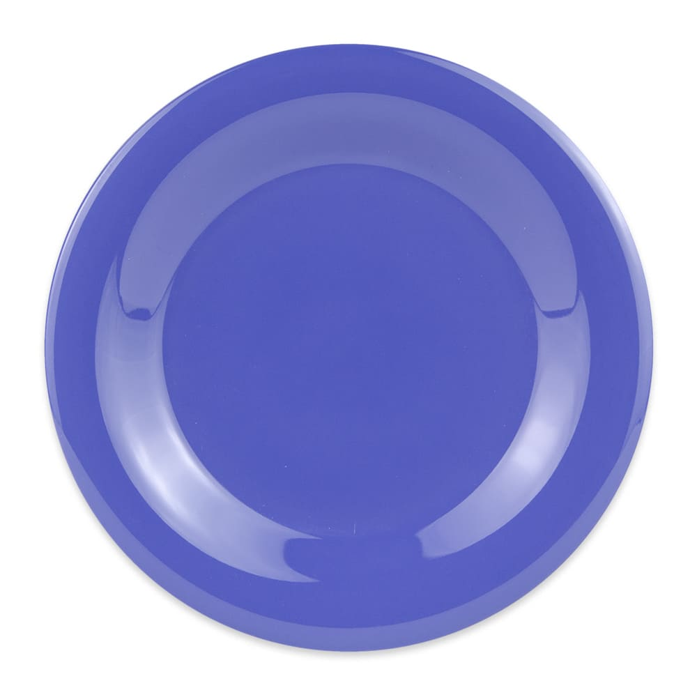 "GET WP-7-PB 7.5"" Round Salad Plate, Melamine, Blue"