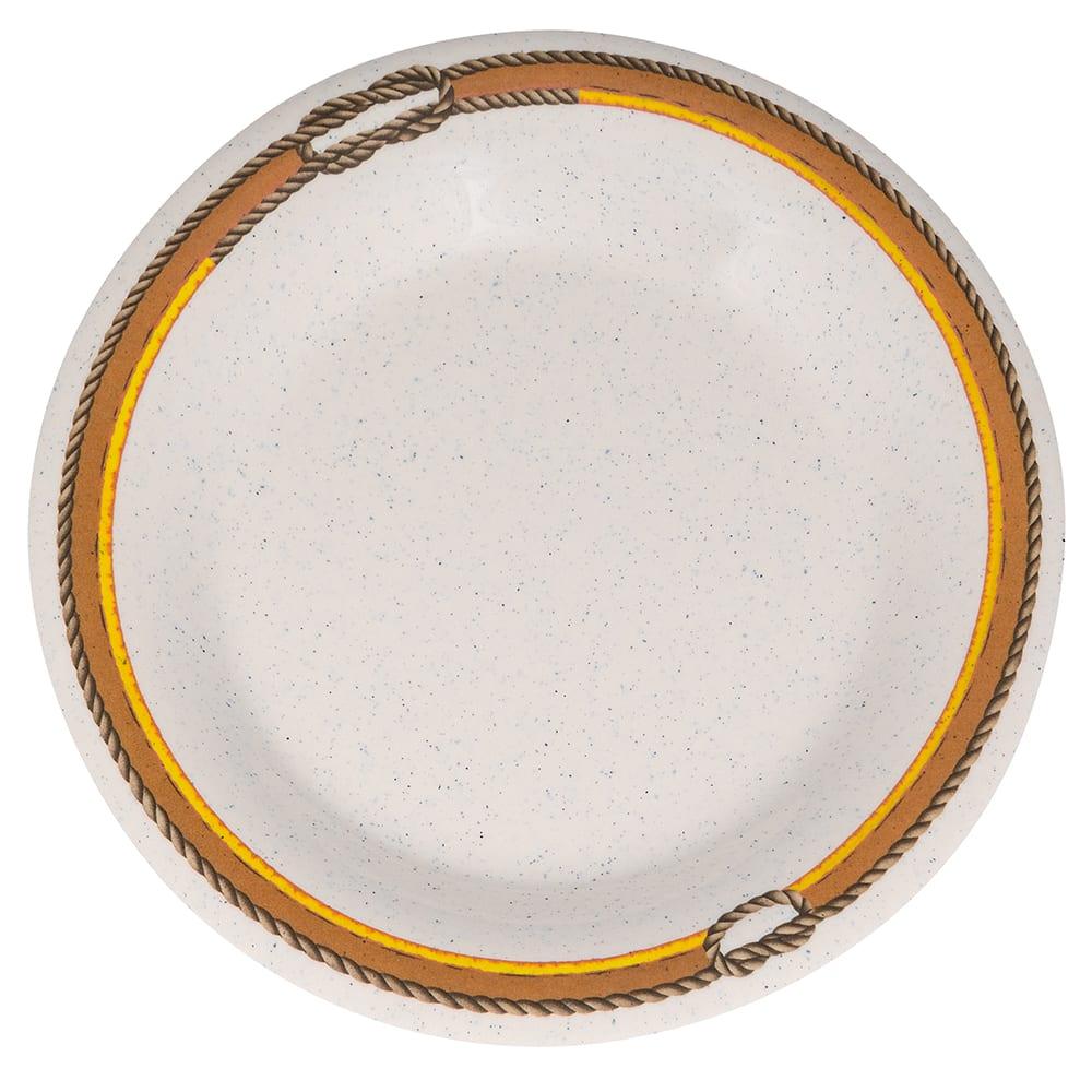 "GET WP-7-RD 7.5"" Round Salad Plate, Melamine, Brown"