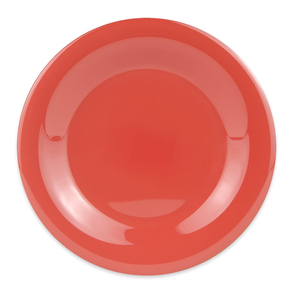 "GET WP-7-RO 7.5"" Round Salad Plate, Melamine, Orange"