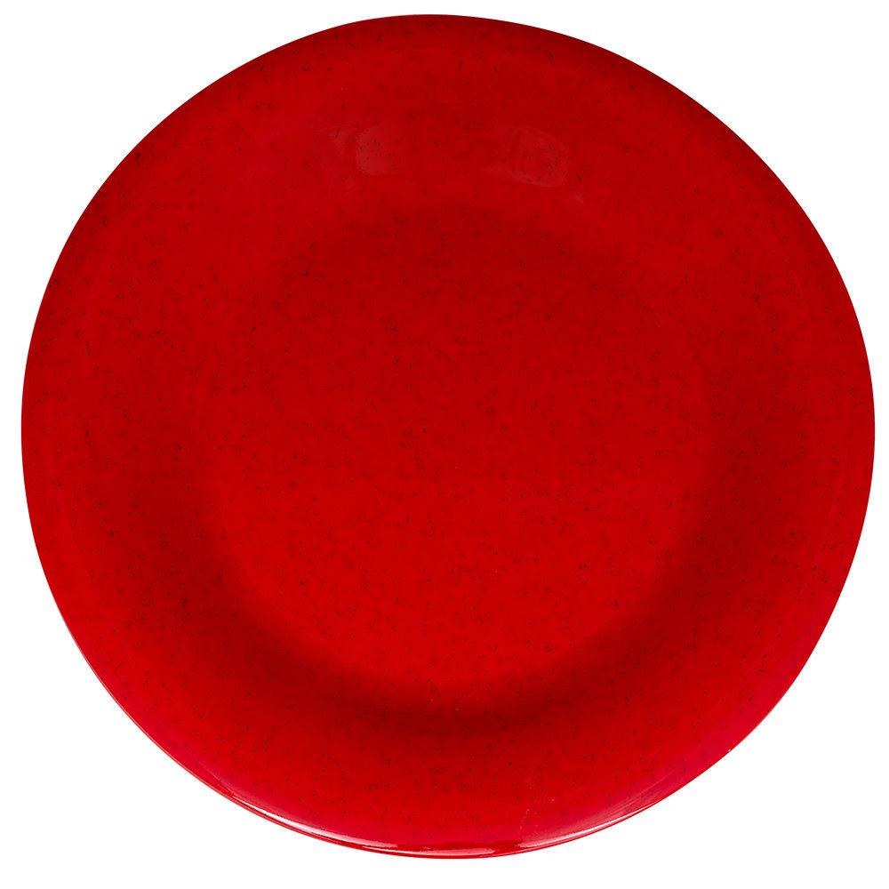 "GET WP-7-RSP 7.5"" Round Salad Plate, Melamine, Red"