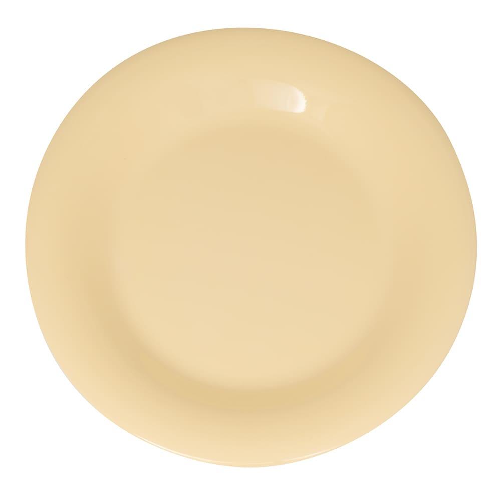 "GET WP-7-SQ 7.5"" Round Salad Plate, Melamine, Squash"