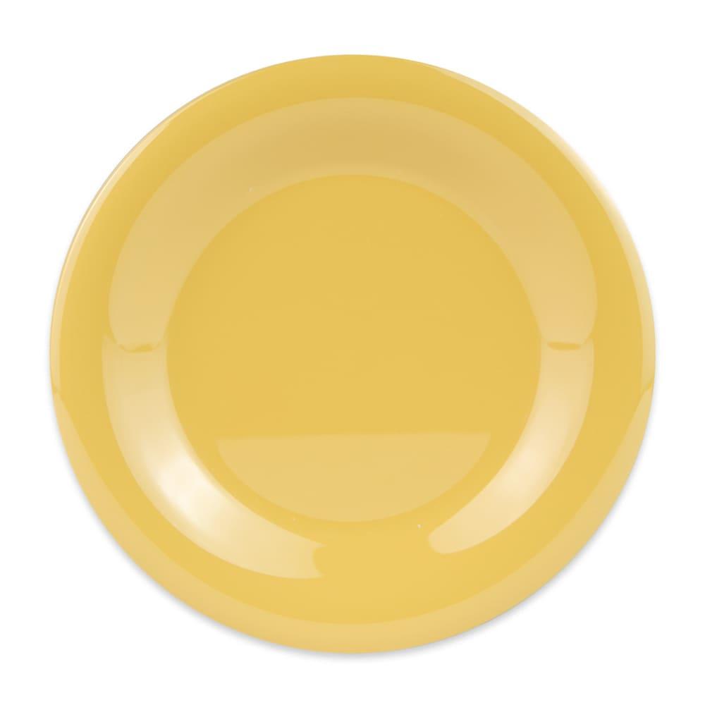 "GET WP-7-TY 7.5"" Round Salad Plate, Melamine, Yellow"