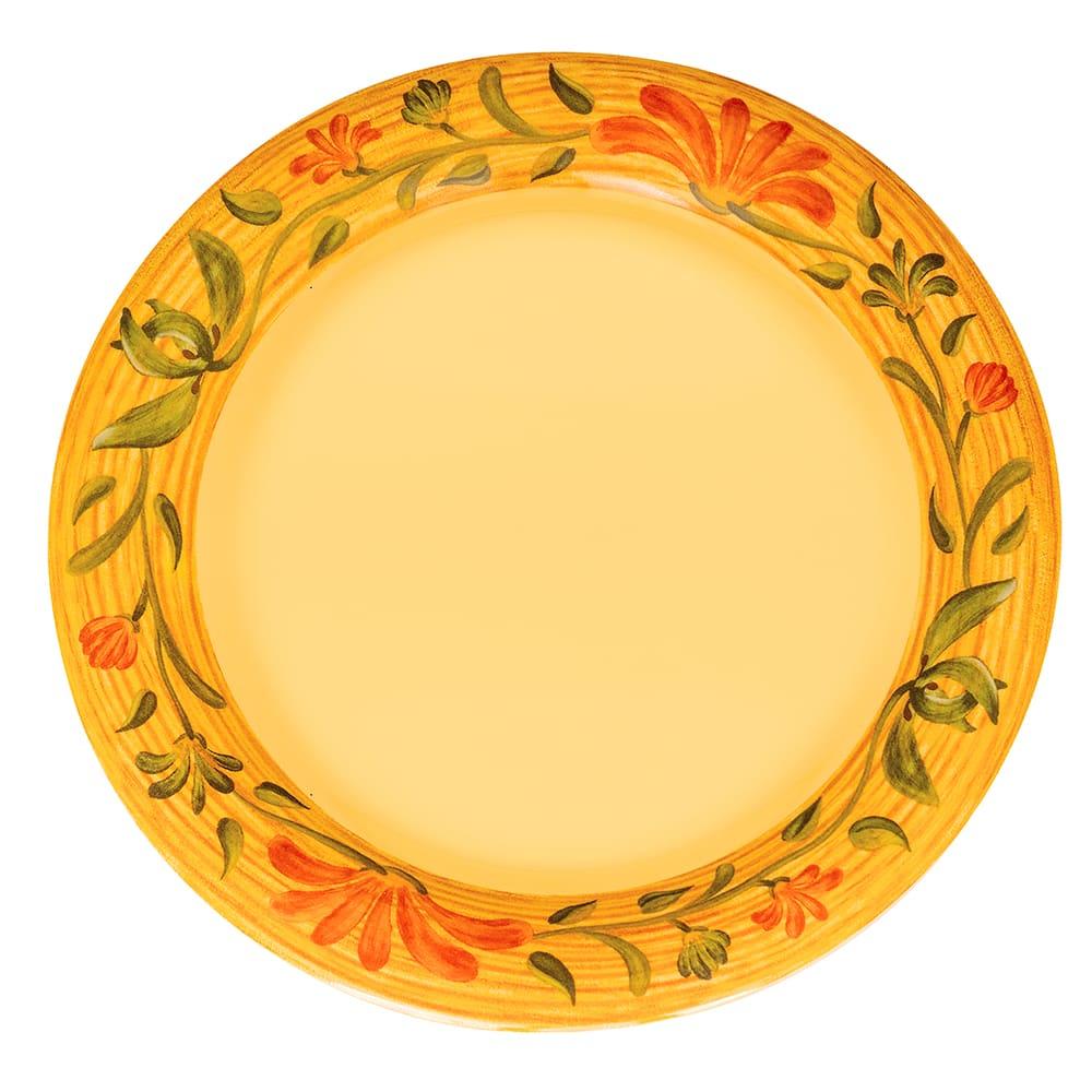 "GET WP-7-VN 7.5"" Round Salad Plate, Melamine, Yellow"