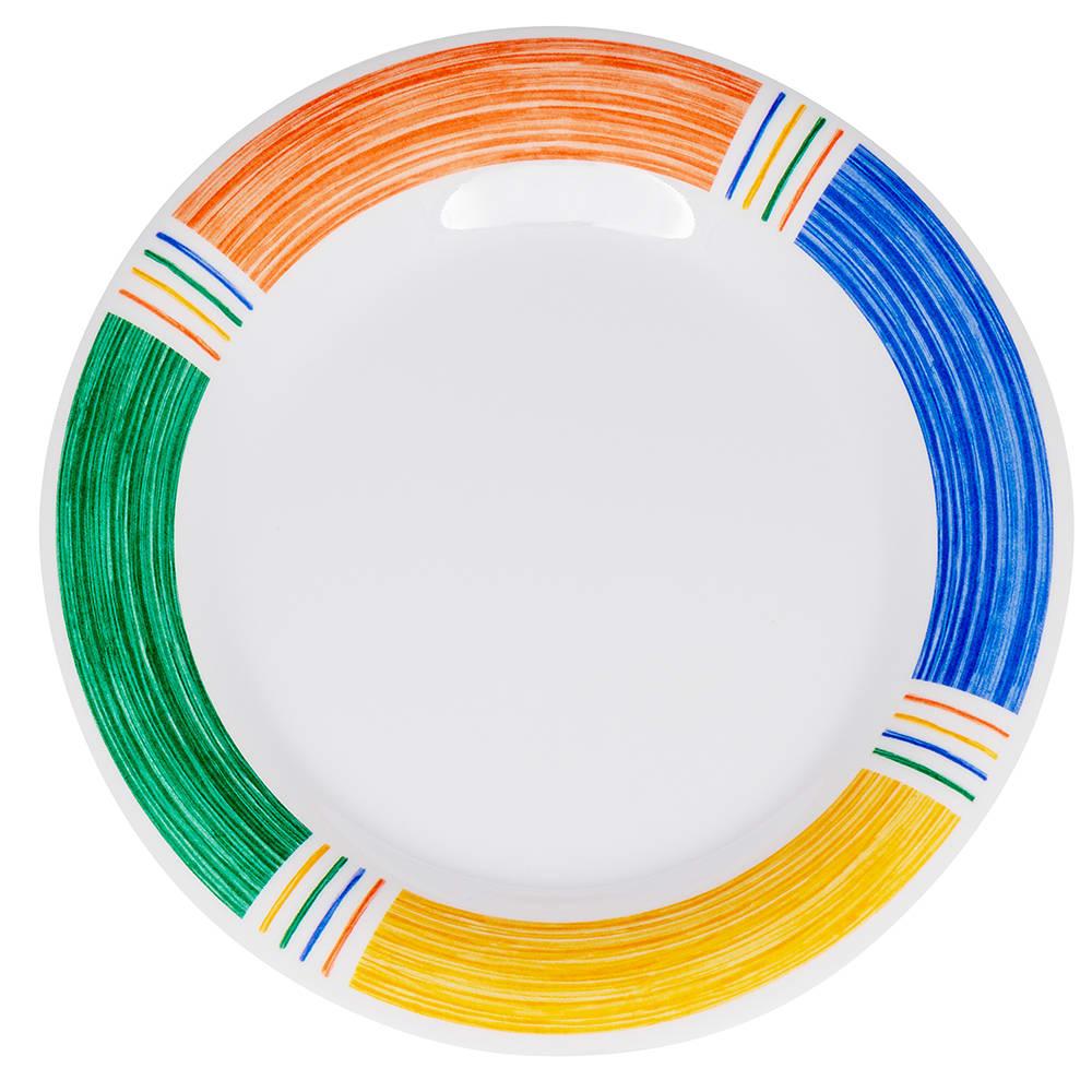 """GET WP-9-BA 9"""" Round Dinner Plate, Melamine, White"""