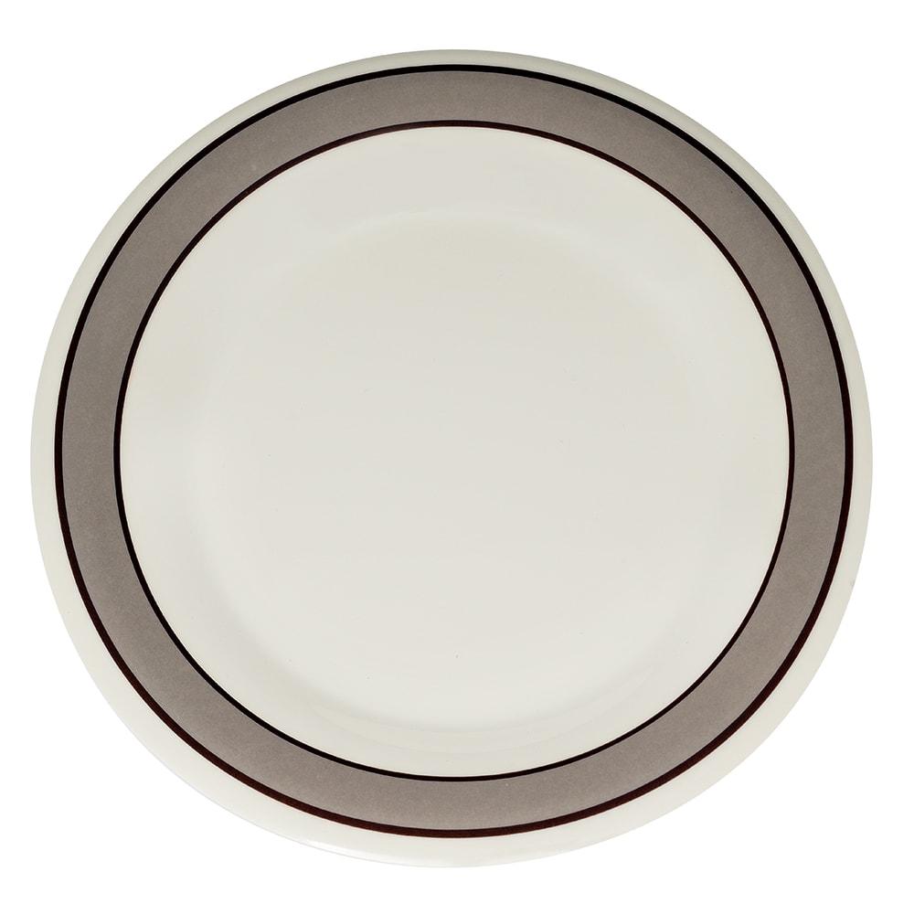 "GET WP-9-CA 9"" Round Dinner Plate, Melamine, White"