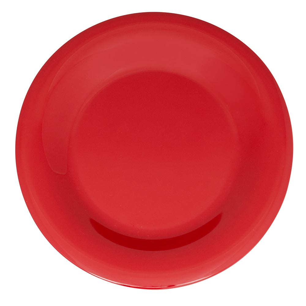 "GET WP-9-CR 9"" Round Dinner Plate, Melamine, Cranberry"