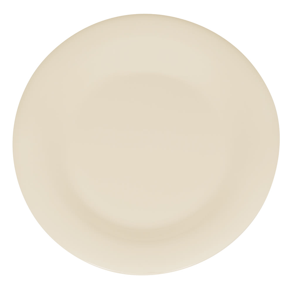 "GET WP-9-DI 9"" Round Dinner Plate, Melamine, Ivory"