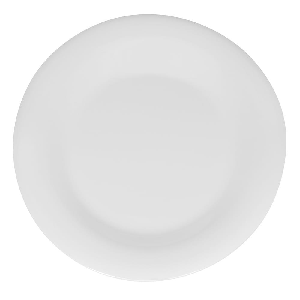 "GET WP-9-DW 9"" Round Dinner Plate, Melamine, White"