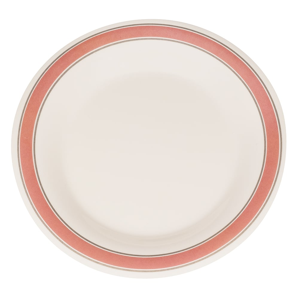 "GET WP-9-OX 9"" Round Dinner Plate, Melamine, White"