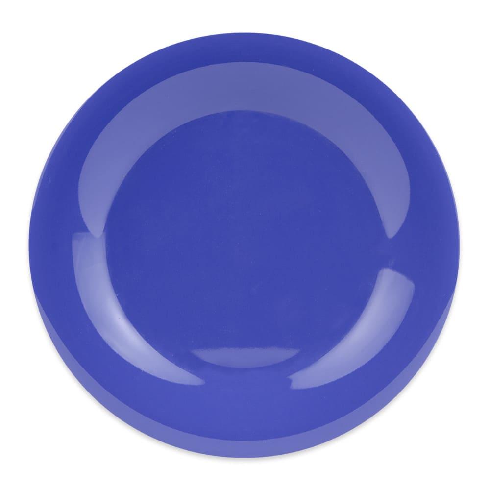"GET WP-9-PB 9"" Round Dinner Plate, Melamine, Blue"
