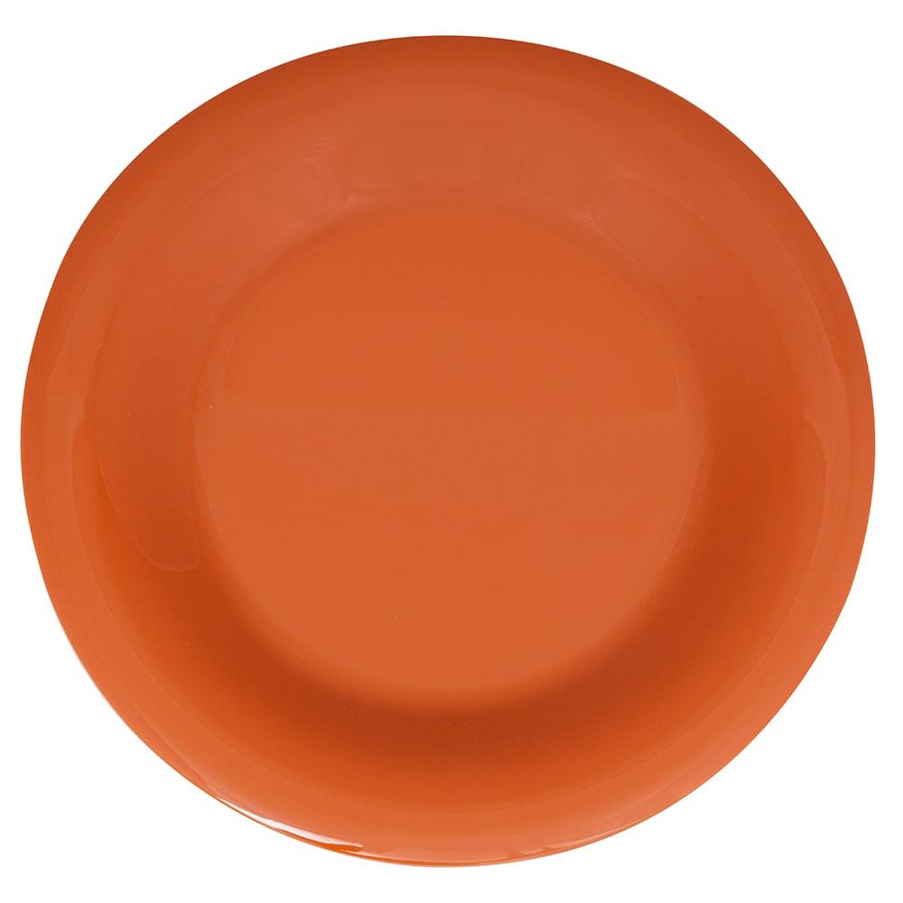 """GET WP-9-PK 9"""" Round Dinner Plate, Melamine, Pumpkin"""