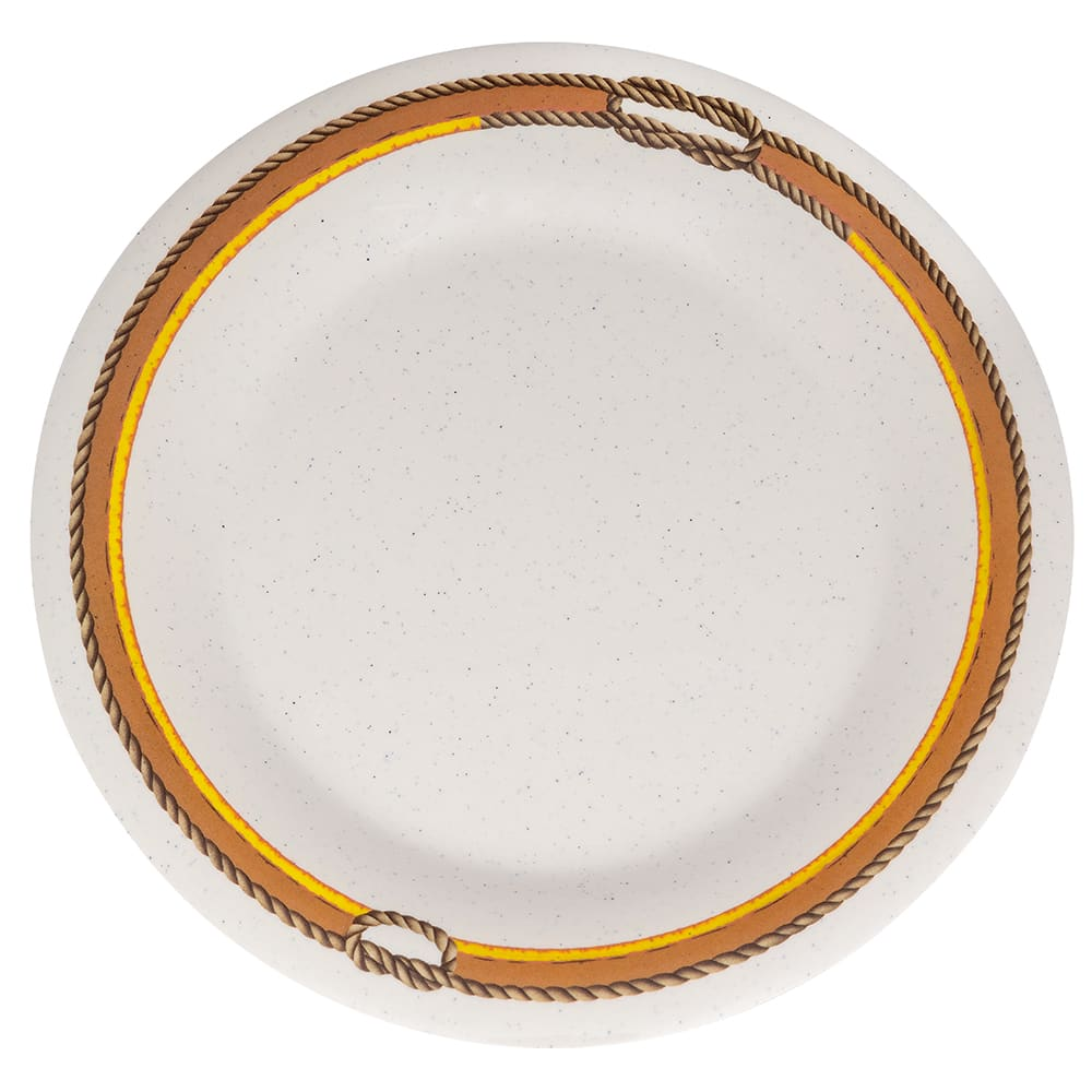 "GET WP-9-RD 9"" Round Dinner Plate, Melamine, Brown"
