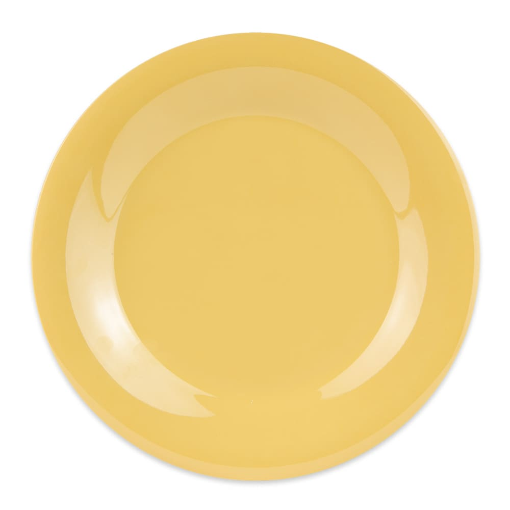 "GET WP-9-TY 9"" Round Dinner Plate, Melamine, Yellow"