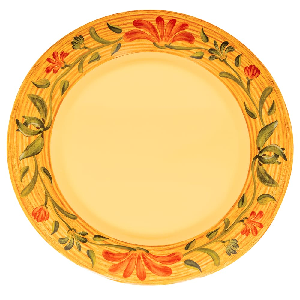 "GET WP-9-VN 9"" Round Dinner Plate, Melamine, Yellow"