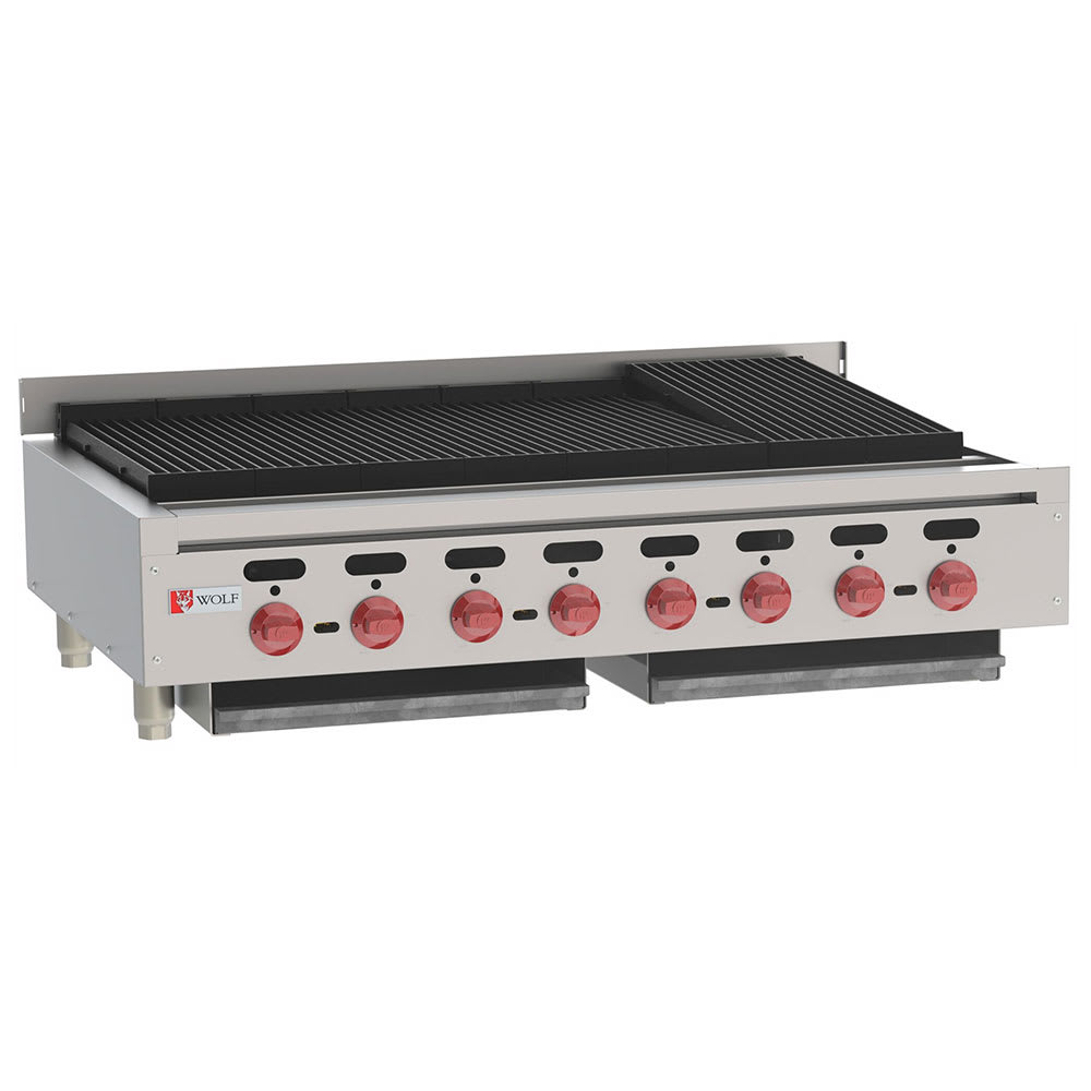 "Wolf ACB47 47"" Gas Charbroiler w/ (8) Burners & Cast Iron Grates, NG"