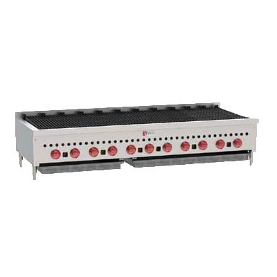 "Wolf SCB60 60"" Gas Charbroiler w/ Cast Iron Grates - Manual, LP"
