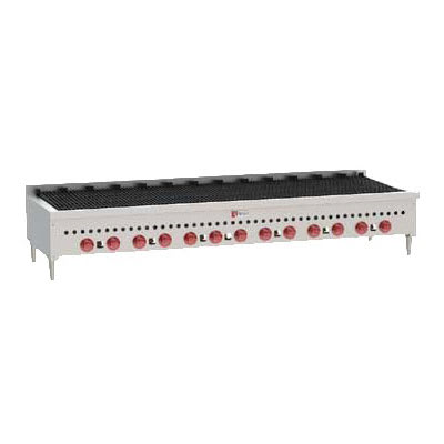 "Wolf SCB72 72"" Gas Charbroiler w/ Cast Iron Grates - Manual, LP"