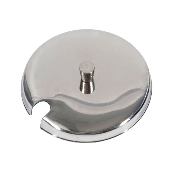 Town 19821 8 oz Condiment Jar Cover, With Spoon Cut-Out, Stainless Steel