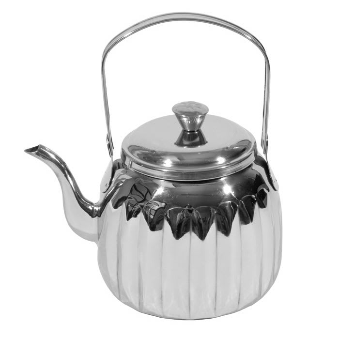 Town 24174 74-oz Stainless Teapot w/ Gooseneck Spout, Pivot Handle With Knob