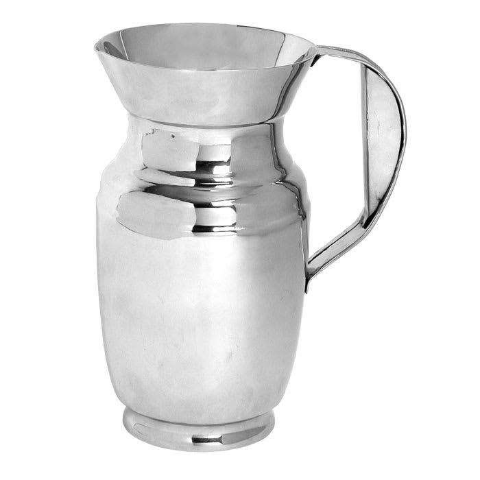 Town 24264 64 oz Polished Stainless Water Pitcher, With Ice Guard